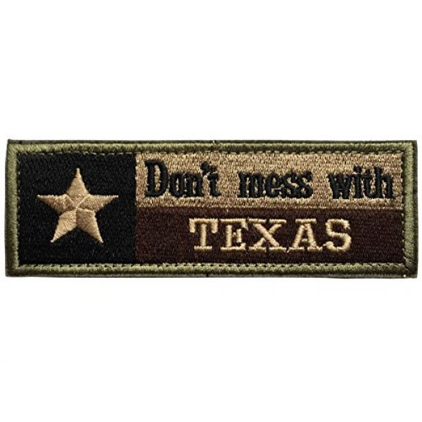 Kaben Airsoft Morale Patch 1 Don't Mess With Texas Tx State Flag Usa Army Morale Tactical Forest Patch