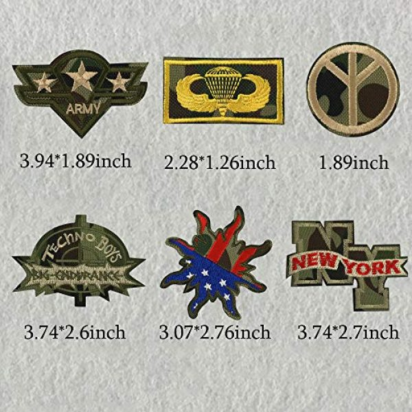 Ceresa Inc Airsoft Morale Patch 6 Camouflage Iron on Patches Embroidered Military Patches Morale Sew On Patches for Military Fans Applique Stickers Badges Clothes Jacket T-Shirt Decorations Men Women Girls Boys Washable Decals 7Pcs