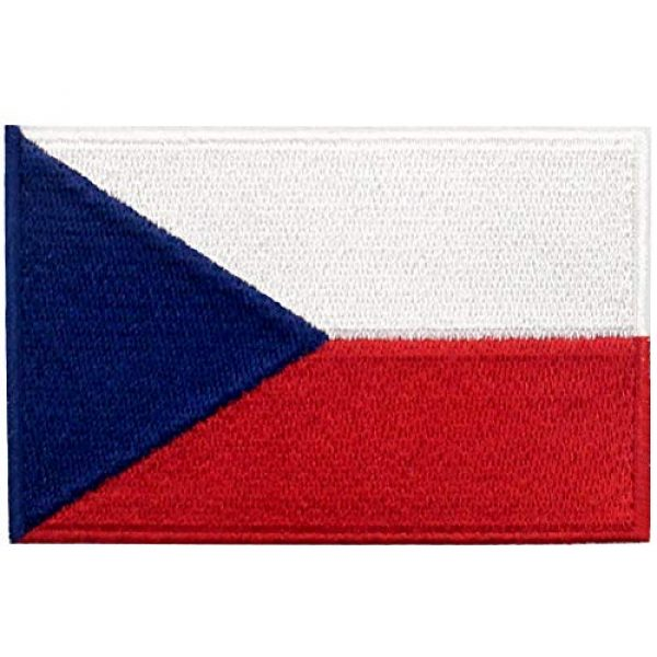 EmbTao Airsoft Morale Patch 1 EmbTao Czech Republic Flag Patch Embroidered Morale Applique Iron On Sew On National Emblem