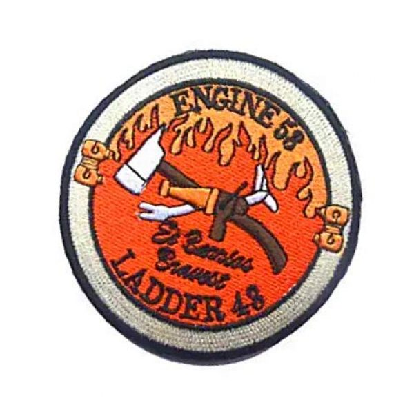 Embroidery Patch Airsoft Morale Patch 3 Warrior Red Wing Fireman Engine 53 Ladder 43 Lone Survivor Military Hook Loop Tactics Morale Embroidered Patch