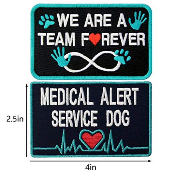 TailWag Planet Airsoft Morale Patch 2 Service Dog Medical Not All Disabilities are Visible Alert Vest/Harnesses Tactical Morale Patch Embroidered Badge Fastener Hook & Loop Emblem, 6 Pcs, Blue