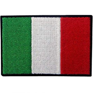 EmbTao Airsoft Morale Patch 1 EmbTao Italy Flag Embroidered Patch Italian Iron On Sew On National Emblem