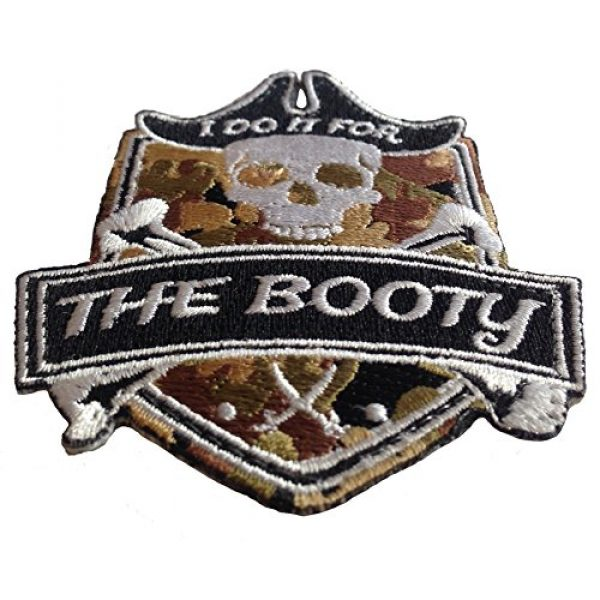 F-Bomb Morale Gear Airsoft Morale Patch 2 Pirate I Do It for The Booty Embroidered Morale Patch