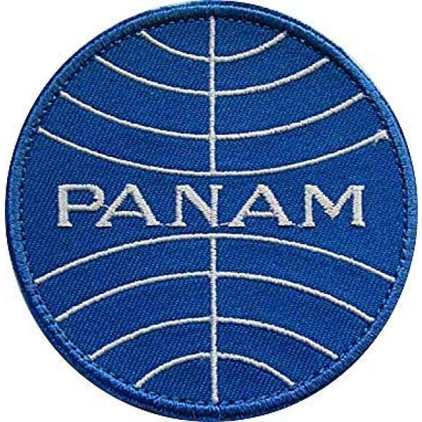 Embroidery Patch Airsoft Morale Patch 1 Pan Am Airlines Military Hook Loop Tactics Morale Embroidered Patch