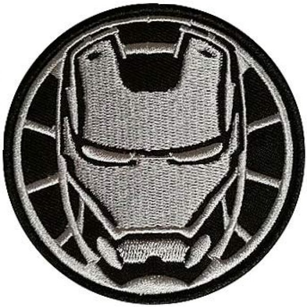Embroidery Patch Airsoft Morale Patch 1 Marvel Avengers Iron Man Military Hook Loop Tactics Morale Embroidered Patch (color2)