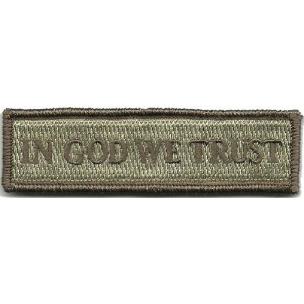 Gadsden and Culpeper Airsoft Morale Patch 1 in GOD We Trust - Tactical Morale Patch - ATACS-Tan