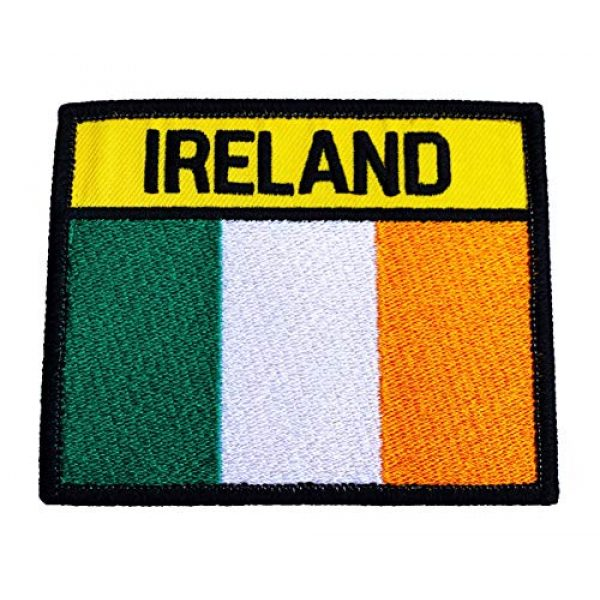 Karma Patch Airsoft Morale Patch 1 Ireland Flag Patch (3.75 Inch) Hook & Loop Embroidered Badge Airsoft Paintball Martial Arts Irish Army Tactical Morale Applique
