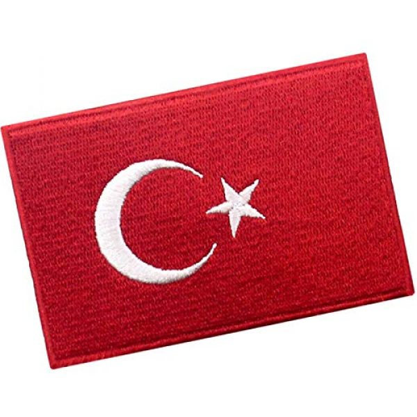 EmbTao Airsoft Morale Patch 3 EmbTao Turkey Flag Patch Embroidered National Morale Applique Iron On Sew On Turk Emblem