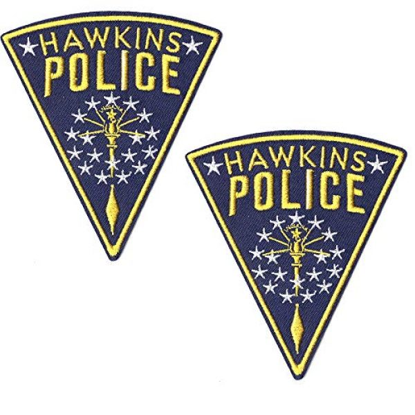 Ebateck Airsoft Morale Patch 1 Ebateck Hawkins Police Patch, 2 Pack, Stranger Things Badge Morale Patches