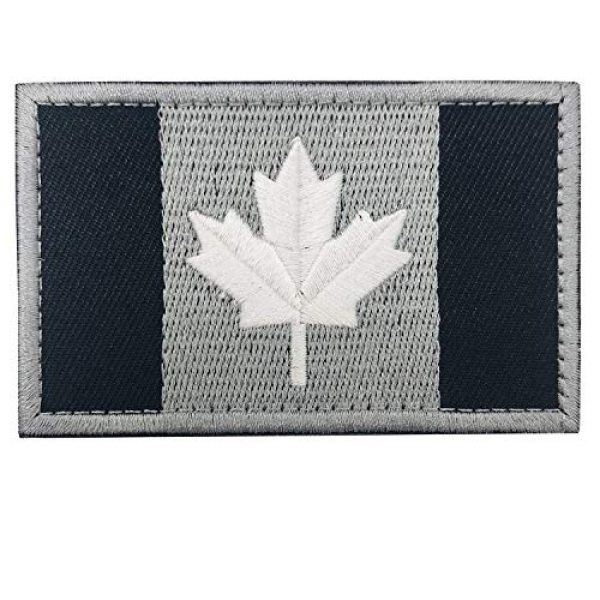 Heyqie Airsoft Morale Patch 3 2 Pieces Canada Flag Patches, Canadian Flag Patch 3.1 X 2.0 Inch Velcro Patches Morale Military Uniform Emblem Patch Iron-on Patch for Tactical Backpacks Bags Clothes Jackets Hats