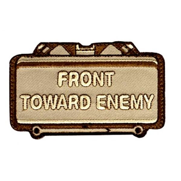 A-Plus Trading Airsoft Morale Patch 1 Mil-Spec Monkey Front Toward Enemy Morale Patch Desert Hook Back