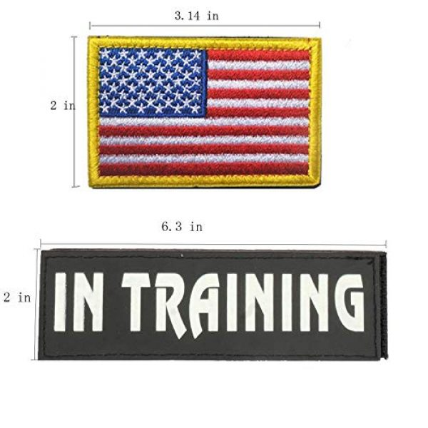 GrayCell Airsoft Morale Patch 2 GrayCell Dog Pack Hound Travel Hiking Backpack Saddlebags/Morale Service Dog Patches for Pet Tactical K9 Harness Vest (4)
