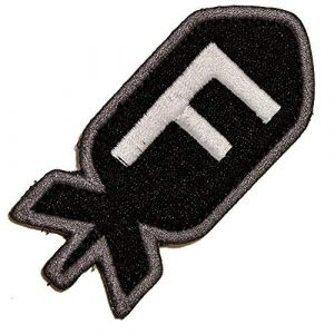 Gadsden and Culpeper Airsoft Morale Patch 1 Die-Cut F-Bomb Patch - Black