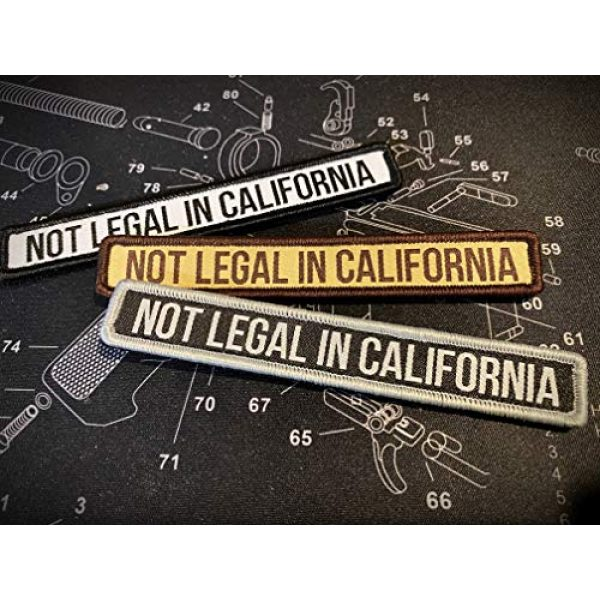 F-Bomb F Morale Gear Airsoft Morale Patch 2 Not Legal in California - Embroidered Morale Patch with Hook Backing (Arid)