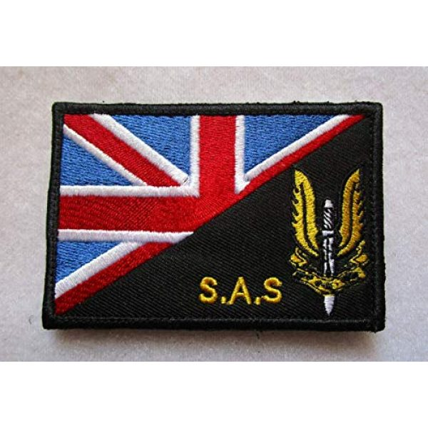 Embroidered Patch Airsoft Morale Patch 1 Special Air Service UK British SAS 3D Tactical Patch Military Embroidered Morale Tags Badge Embroidered Patch DIY Applique Shoulder Patch Embroidery Gift Patch