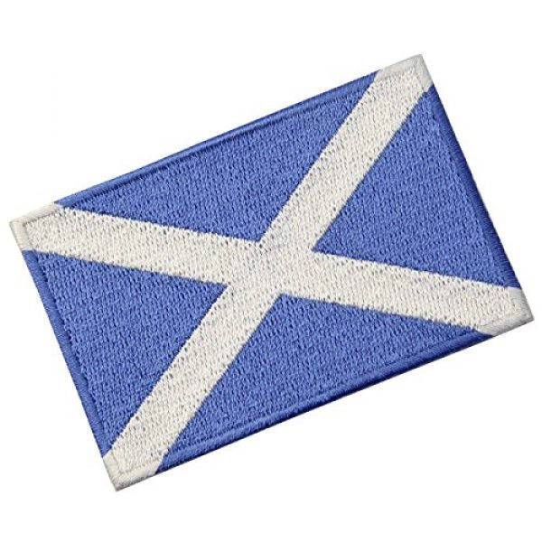 EmbTao Airsoft Morale Patch 4 Scotland Flag Scottish National Emblem Embroidered Iron On Sew On Patch