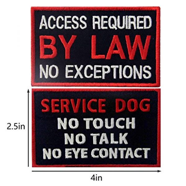 TailWag Planet Airsoft Morale Patch 3 Service Dog in Training Working No Touch PTSD Do Not Distract Vest/Harnesses Tactical Morale Patch Embroidered Badge Fastener Hook & Loop Emblem, 6 Pcs