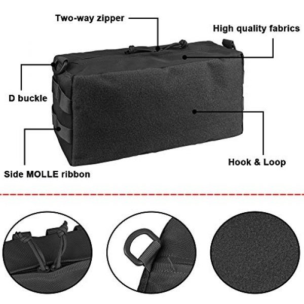 AMYIPO Tactical Pouch 4 AMYIPO Tactical Pouch Molle Admin Utility Pouches Multi-Purpose Large Capacity Increment Pouch Attachment Military Pocket Tool Holder Short Trips Bag