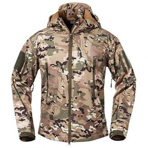 ReFire Gear Tactical Shirt 1 ReFire Gear Men's Soft Shell Military Tactical Jacket Outdoor Camouflage Hunting Fleece Hooded Coat