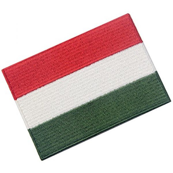 EmbTao Airsoft Morale Patch 3 Hungary Flag Embroidered Embelm Hungarian Iron On Sew On National Patch