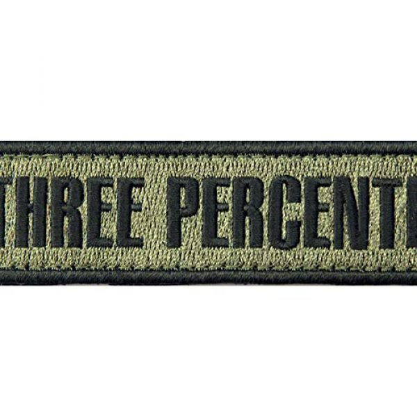 EmbTao Airsoft Morale Patch 2 Three Percenter Tactical Embroidered Morale Applique Fastener Hook&Loop Patch - Olive Drab