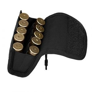 Huntvp Tactical Pouch 1 Huntvp Tactical Shotgun Cartridge Storage Pouch for 10 Bullet cartridges Molle Pouch Pocket for Hunting Shooting CS Game