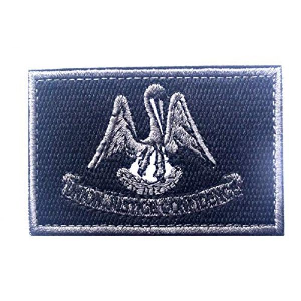 Tactical Embroidery Patch Airsoft Morale Patch 1 State Flag of Louisiana Embroidery Patch Military Tactical Morale Patch Badges Emblem Applique Hook Patches for Clothes Backpack Accessories