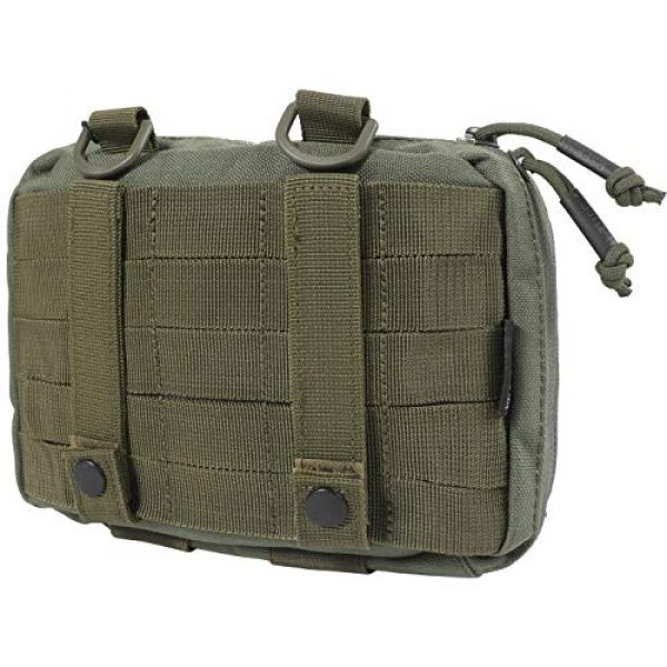 14er Tactical Tactical Pouch 3 14er Tactical MOLLE Admin Pouch | 1000D Material & YKK Self-Healing Zippers | Flag Patch Panel & MOLLE Compatible PALS | CAT TQ Straps, EDC, Utility, Hiking, IFAK, Tool Pack