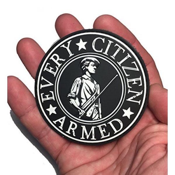 """Empire Tactical USA Airsoft Morale Patch 2 3"""" Every Citizen Armed Patriot military morale Patch (hook/loop)"""