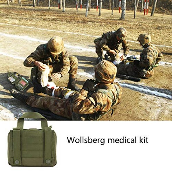 Aoutacc Tactical Pouch 7 Aoutacc Tactical MOLLE Rip Away EMT Medical Pouch, 1000D Nylon Empty IFAK Medical Kit Bag EDC EMT Military First Aid Bag Utility Pouch (Bag Only)