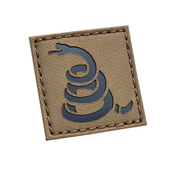 Tactical Freaky Airsoft Morale Patch 1 IR Coyote Gadsden Snake 2x2 America DTOM Dont Tread On Me ArmyTactical Morale Touch Fastener Patch