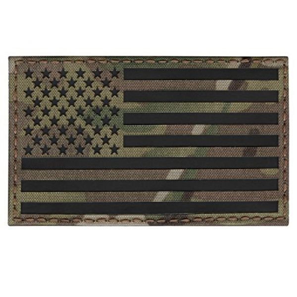 Tactical Freaky Airsoft Morale Patch 3 Big 3x5 Multicam Infrared IR USA American Flag IFF Tactical Morale Touch Fastener Patch
