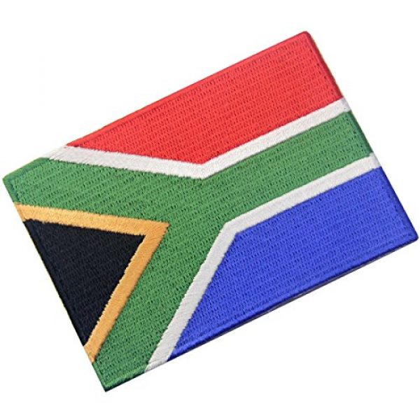 EmbTao Airsoft Morale Patch 3 South Africa Flag Embroidered African Emblem Iron On Sew On National Patch