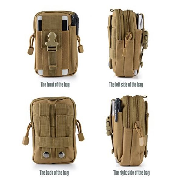 Abcsea Tactical Pouch 3 Abcsea Canvas Outdoor Tactical Wallets, Holster Military Molle Hip Waist Belt Bag Wallet Pouch Purse Phone Case with Zipper for iPhone 7 6s Plus 5S Samsung Galaxy S7 S6 LG HTC and More