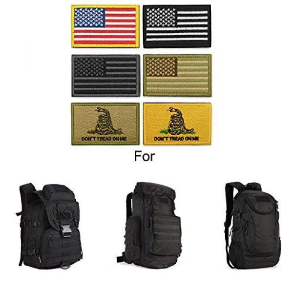 WZT Airsoft Morale Patch 5 WZT Bundle 6 Pieces American Flag Tactical Morale Military Patch Set