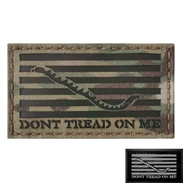 Tactical Freaky Airsoft Morale Patch 1 Multicam Infrared IR US First Navy Jack Dont Tread On Me DTOM Flag 3.5x2 Tactical Morale Hook&Loop Patch