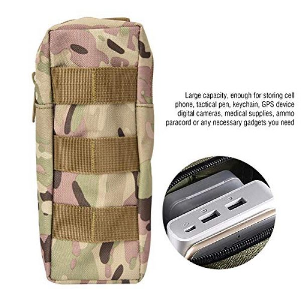 Pasamer Tactical Pouch 7 Pasamer Tacticals-Pouches,Nylon Waterproof Outdoor Camping Accessory Bags Hanging Waist Bag for Hiking Running Cycling Climbing Travel (CP)