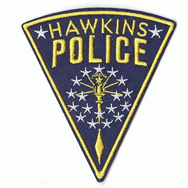 Ebateck Airsoft Morale Patch 3 Ebateck Hawkins Police Patch, 2 Pack, Stranger Things Badge Morale Patches