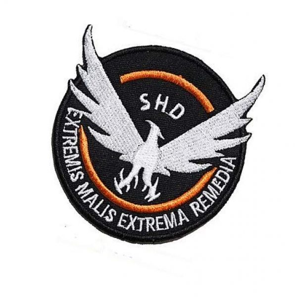 Embroidery Patch Airsoft Morale Patch 3 Tom Clancy's The Division Agent SHD Logo Military Hook Loop Tactics Morale Embroidered Patch
