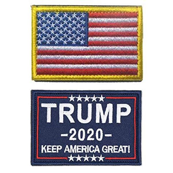 Antrix Airsoft Morale Patch 1 Antrix 2 PCS American Patch Trump Keep America Great 2020 Hook and Loop Patches