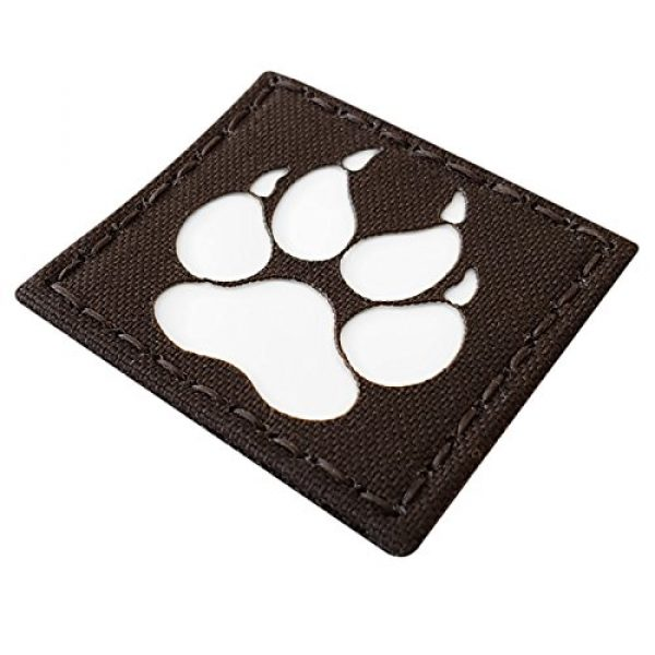 Tactical Freaky Airsoft Morale Patch 5 K9 Handler Dog Paw 2x2 GITD Tactical Morale Fastener Patch