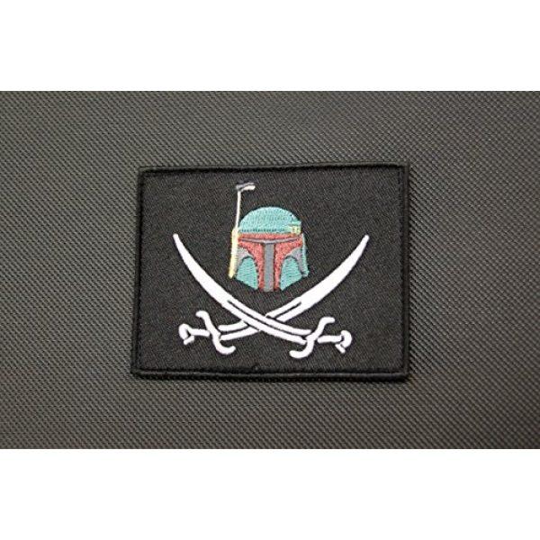 BritKitUSA Airsoft Morale Patch 1 BritKitUSA Boba Fett Calico Jack Morale Patch Mandalorian Bounty Hunter Star Wars Hook Backing