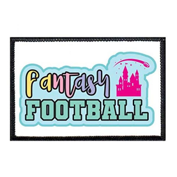 P PULLPATCH Airsoft Morale Patch 1 Fantasy Football - Castle - Color Morale Patch   Hook and Loop Attach for Hats, Jeans, Vest, Coat   2x3 in   by Pull Patch