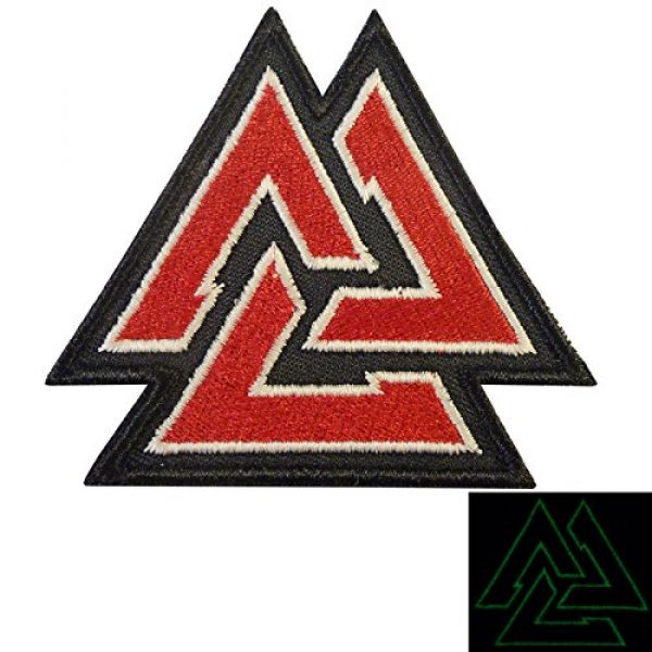 LEGEEON Airsoft Morale Patch 1 LEGEEON Glow Dark Valknut Viking Norse Rune Morale Tactical Sew Iron on Patch