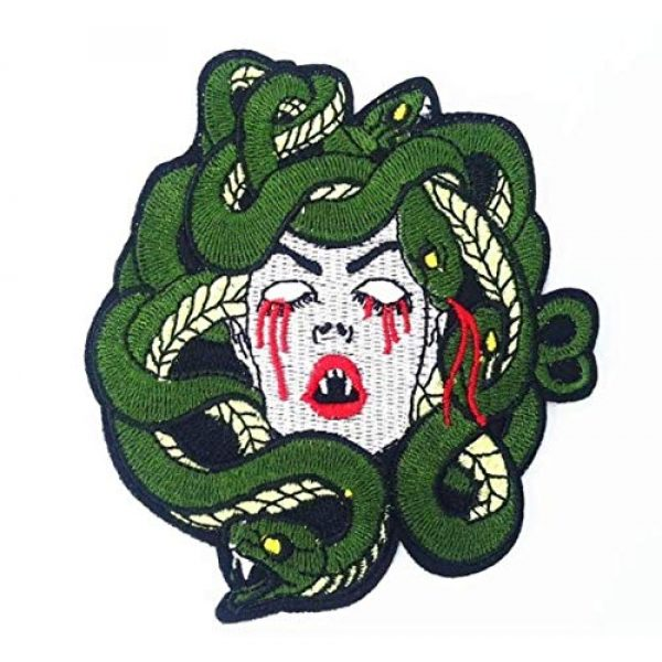 Embroidered Patch Airsoft Morale Patch 1 Bleeding Medusa 3D Tactical Patch Military Embroidered Morale Tags Badge Embroidered Patch DIY Applique Shoulder Patch Embroidery Gift Patch