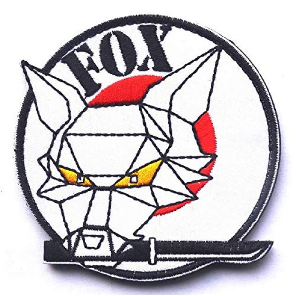 Tactical Embroidery Patch Airsoft Morale Patch 1 Metal Gear Solid Foxhound Fox Hound Embroidery Patch Military Tactical Morale Patch Badges Emblem Applique Hook Patches for Clothes Backpack Accessories