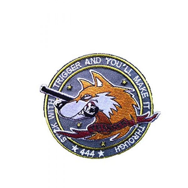Generic Airsoft Morale Patch 1 Ace Combat 'Trigger' Military morale Patch Fabric Embroidered Badges Patch Tactical Stickers for Clothes with Hook & Loop