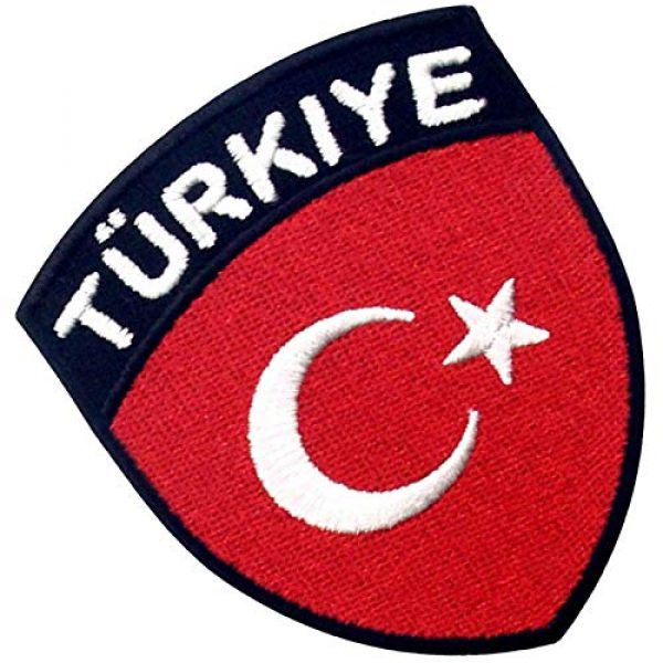 EmbTao Airsoft Morale Patch 3 EmbTao Turkey Flag Shield Patch Embroidered National Morale Applique Iron On Sew On Turk Emblem