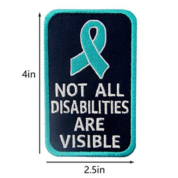 TailWag Planet Airsoft Morale Patch 4 Service Dog Medical Not All Disabilities are Visible Alert Vest/Harnesses Tactical Morale Patch Embroidered Badge Fastener Hook & Loop Emblem, 6 Pcs, Blue
