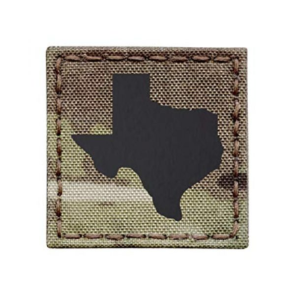Tactical Freaky Airsoft Morale Patch 1 Texas Multicam Infrared IR 2x2 Tactical Morale Hook&Loop Patch